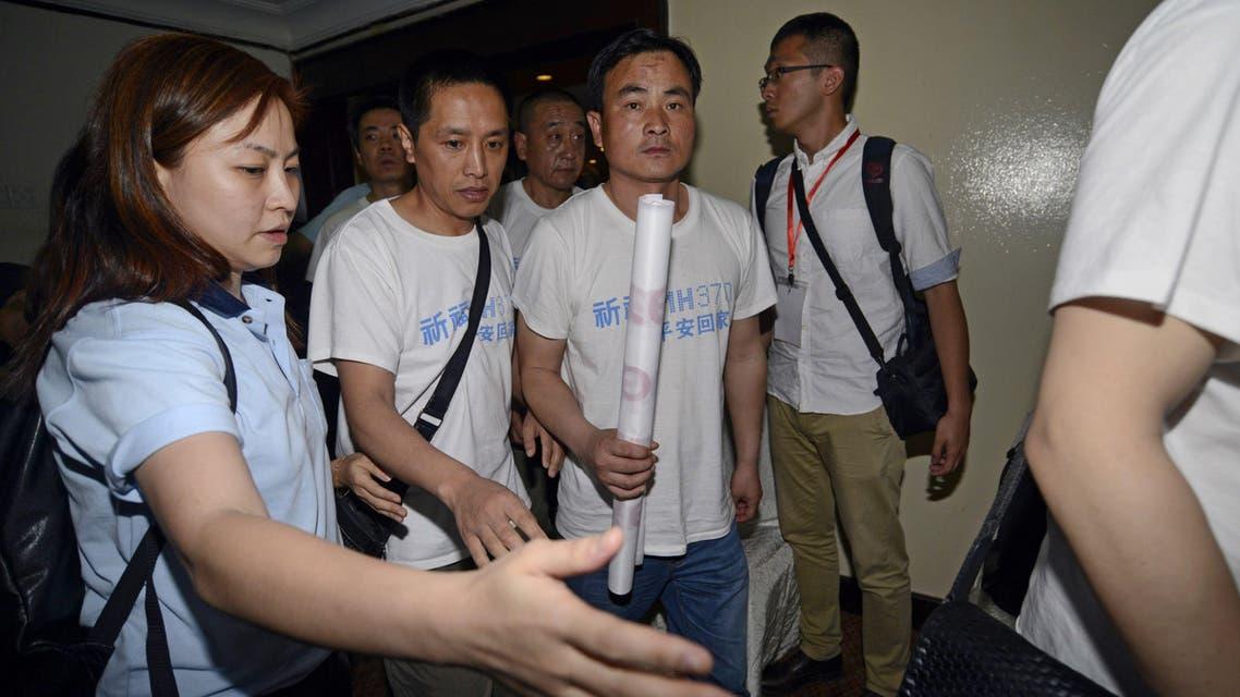 اقارب ضحايا الطائرة الماليزية