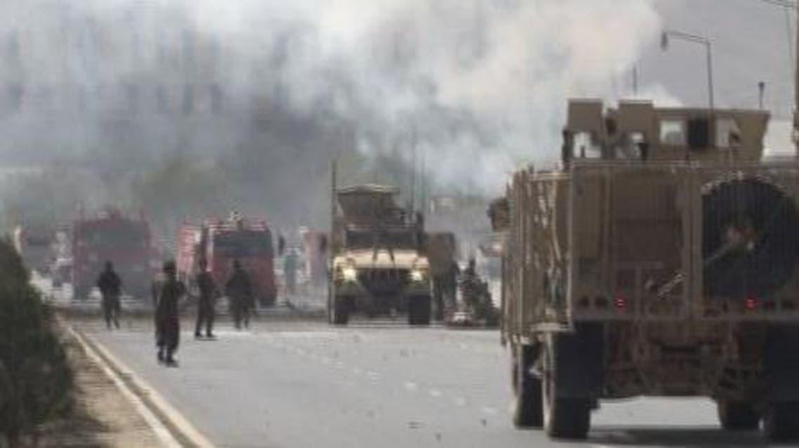 حمله به کاروان سربازان خارجی در افغانستان