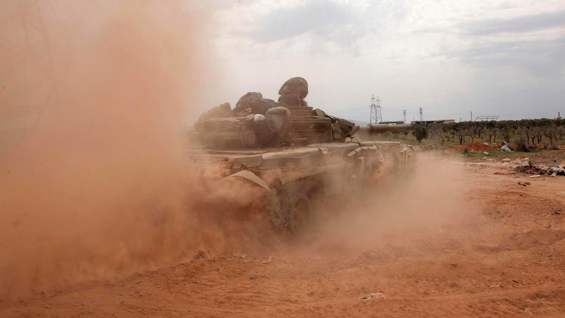 A Syrian army tank is seen in the al-Maamel area in Aleppo's countryside. (File photo: Reuters)