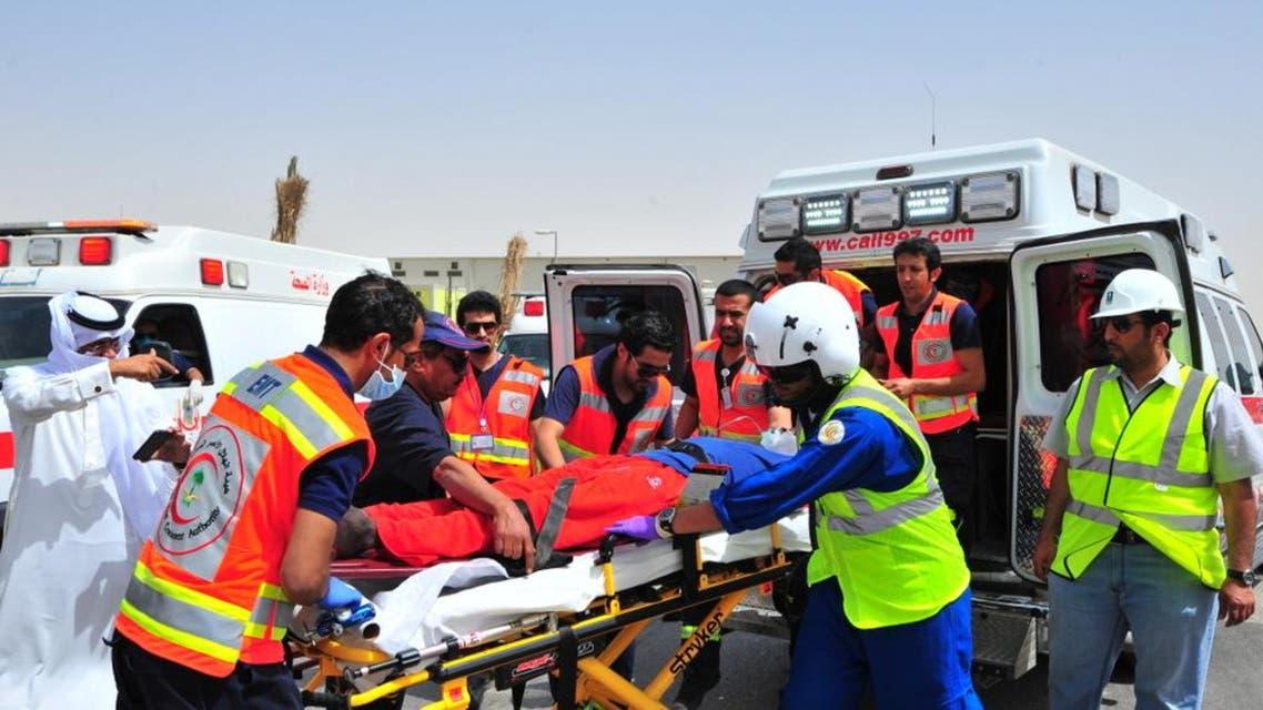 5 وفيات و31 إصابة أثناء خطة فرضية للهلال الأحمر