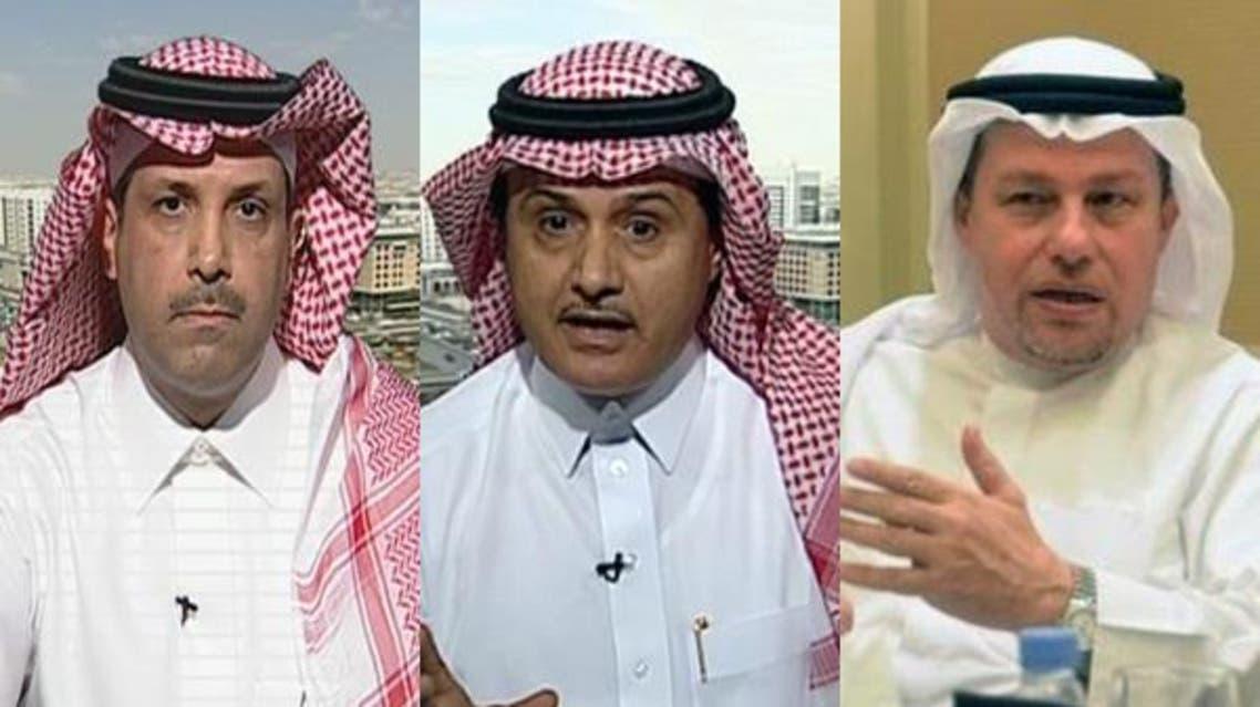 د.احسان بوحليقة ود.فهد بن جمعة ومحمد العمران.