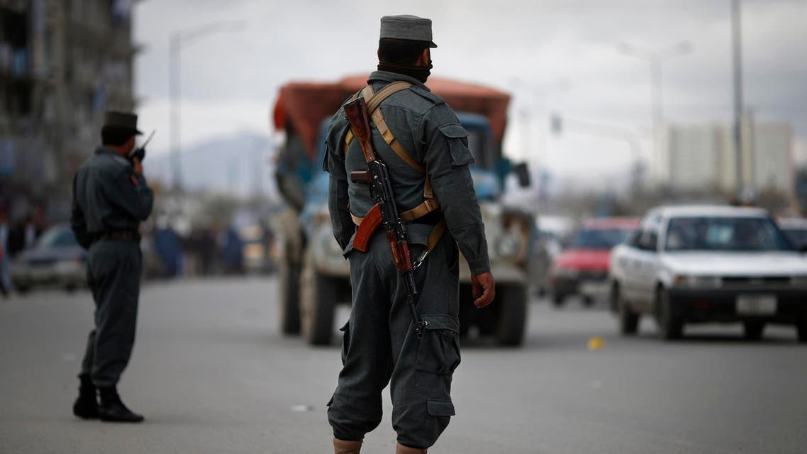 Policemen man a check point in central Kabul April 2, 2014, ahead of Saturday's presidential election. (Reuters)