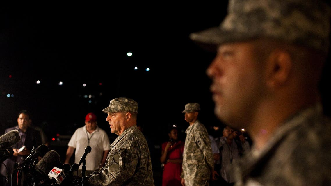 General Mark Milley, III Corps and Fort Hood Commanding General, speaks to media during a press conference about a shooting that occurred earlier in the day at Fort Hood Military Base on April 2, 2014 in Fort Hood, Texas. (AFP)