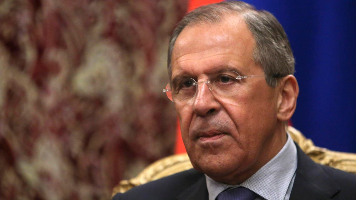 Russian Foreign Minister Sergei Lavrov attends a meeting with his Cypriot counterpart Ioannis Kasoulides in Moscow March 28, 2014. (Reuters)