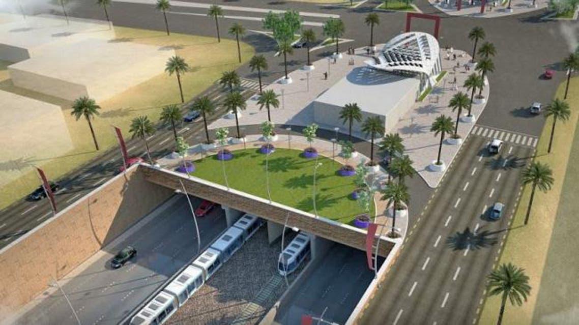 المخطط لمشروع مترو الرياض
