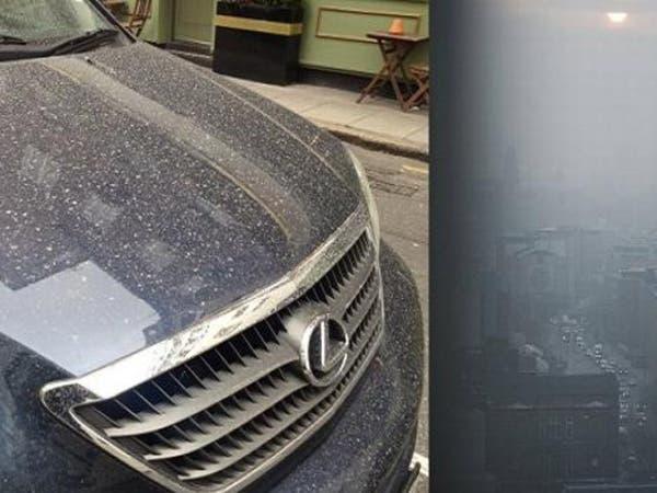 غبار رملي من صحراء الجزائر يجعل لندن كمدن الخليج