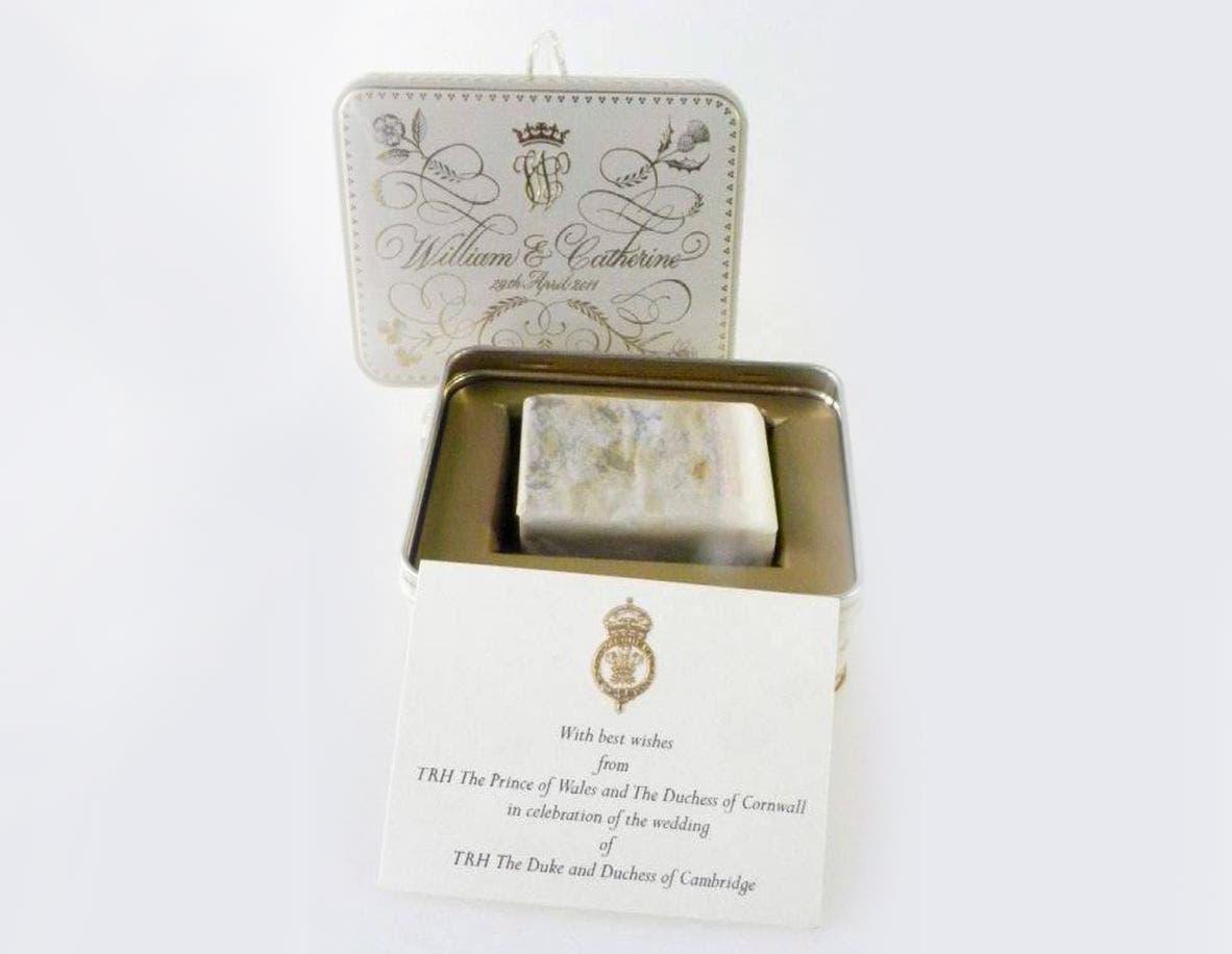 قالب الحلوى الذي أعد خصيصا لزفاف الأمير وليام وكايت