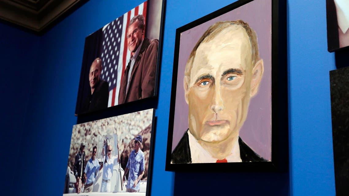 George W. Bush's paintings on display