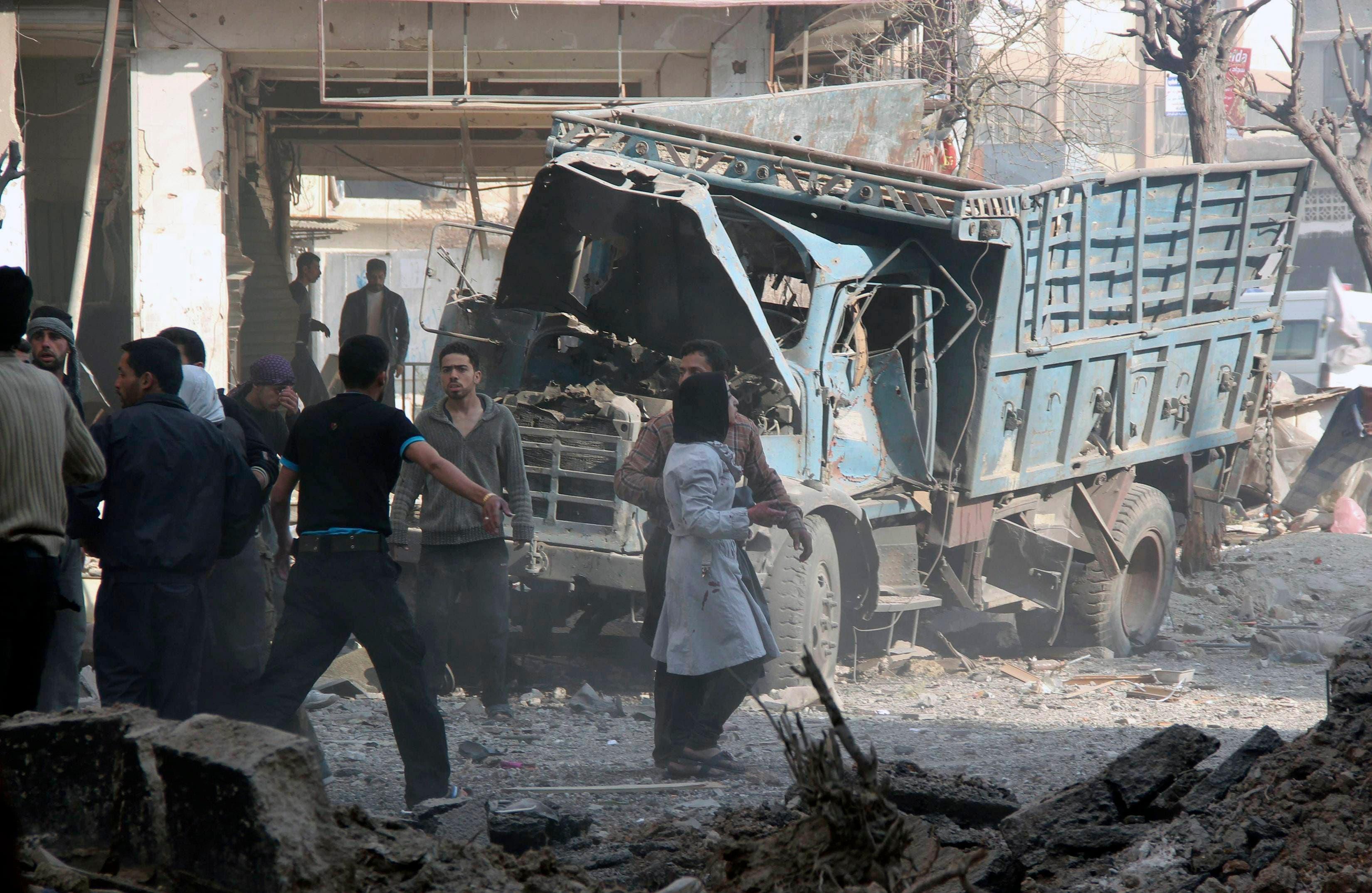 تدمير دمار سوريا سورية