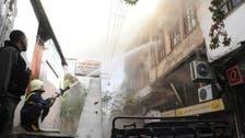 دمشق میں روسی سفارت خانے کے آس پاس راکٹوں کی بارش