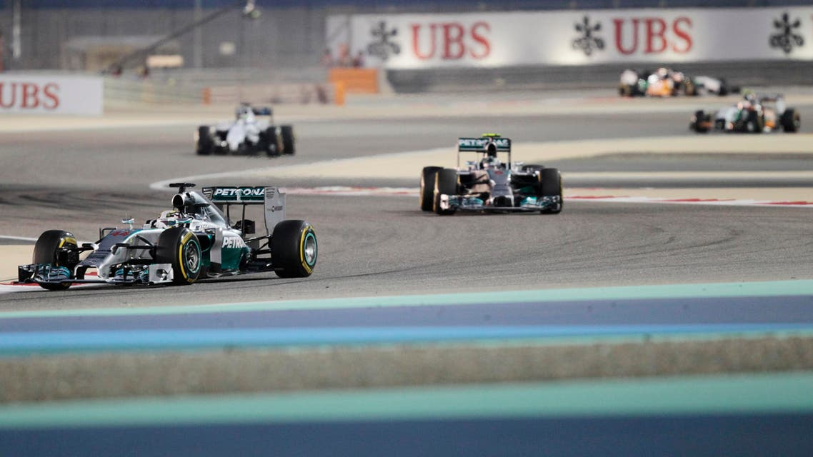 A picture showing the Bahrain F1 Grand Prix held last year at the Bahrain International Circuit (BIC) in Sakhir, south of Manama. (File photo: Reuters)