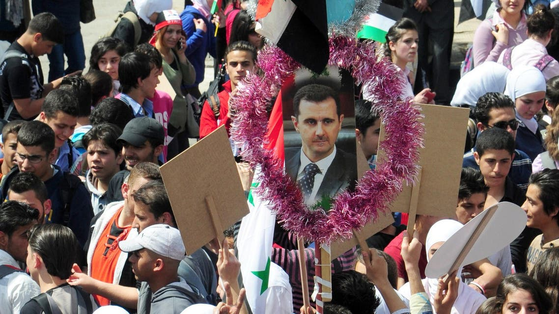 syria assad AFP supporters