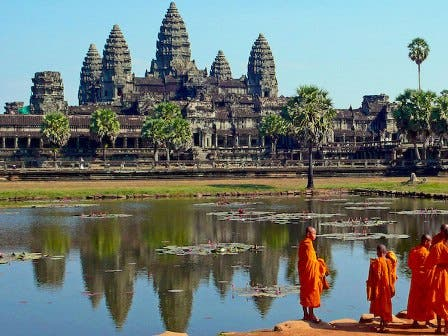 Number 9: Cambodia's Siem Reap - where tourists can visit Angkor Wat - ranked ninth in the global TripAdvisor list