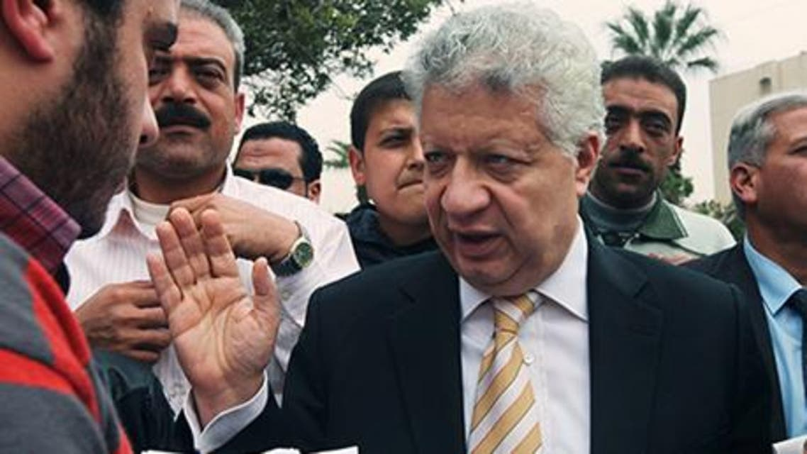 Egyptian presidential candidate hopeful and lawyer Mortada Mansour (Reuters)