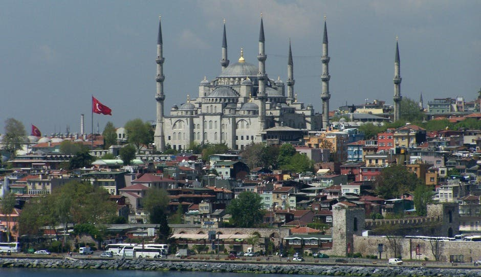Number 1: Istanbul in Turkey - where tourists can see the Blue Mosque - was ranked the best destination in the world
