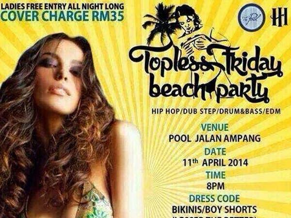 ماليزيون ينظمون حفلة تعرية
