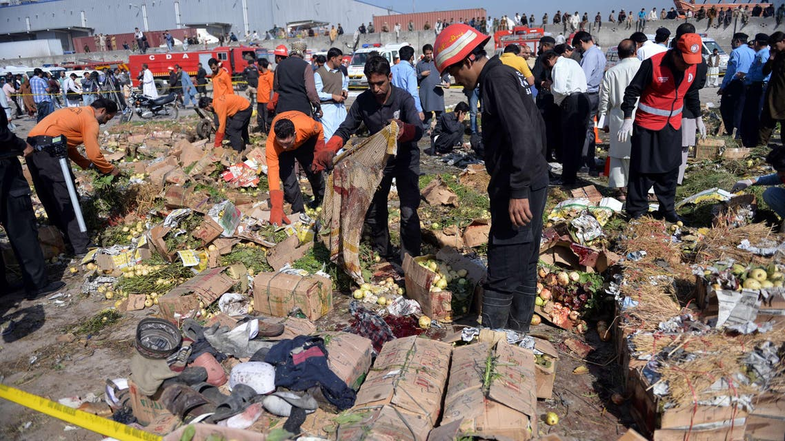 انفجار في سوق في باكستان