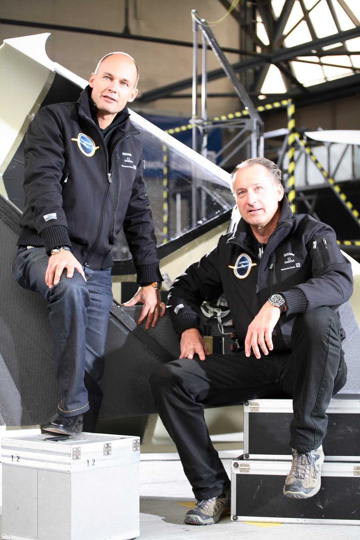 Bertrand Piccard and André Borschberg have been working on the project for 12 years. (Image courtesy: Solar Impulse)
