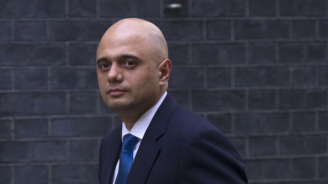Sajid Javid, arrives in Downing Street in central London on April 9, 2014 after being appointed to replace Maria Miller as British Culture Secretary. (AFP)