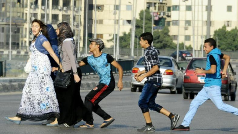 Egyptian women are harassed in Cairo. (Photo courtesy: AP)