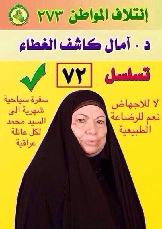 Posters in the Iraqi elections