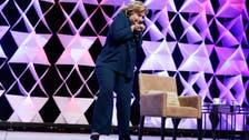 Hillary Clinton dodges shoe at Las Vegas speech