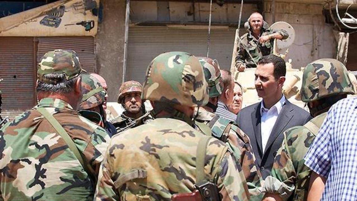 بشار الاسد برفقة الجيش
