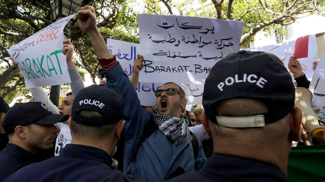 مظاهرات حركة بركات الجزائر