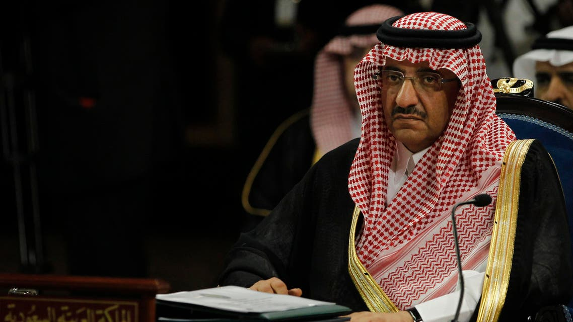 Saudi Interior Minister Prince Mohammed bin Nayef al Saud attends the opening session of GCC Interior Ministers' Conference in Manama April 23, 2013. (Reuters)