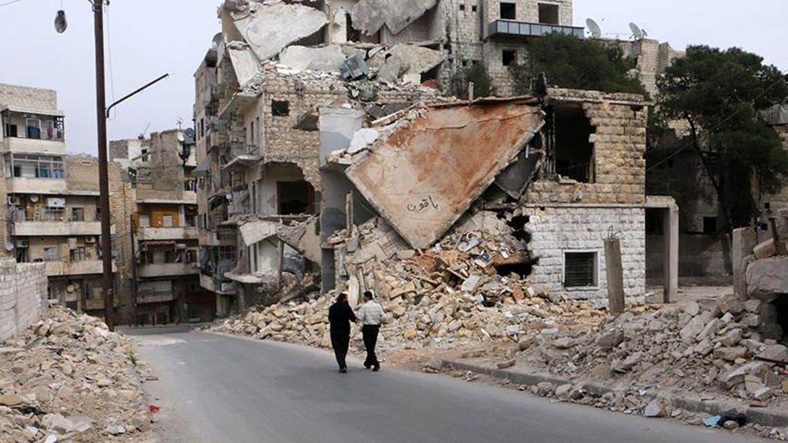 دمار في حلب نتيجة قصف قوات النظام على المدينة