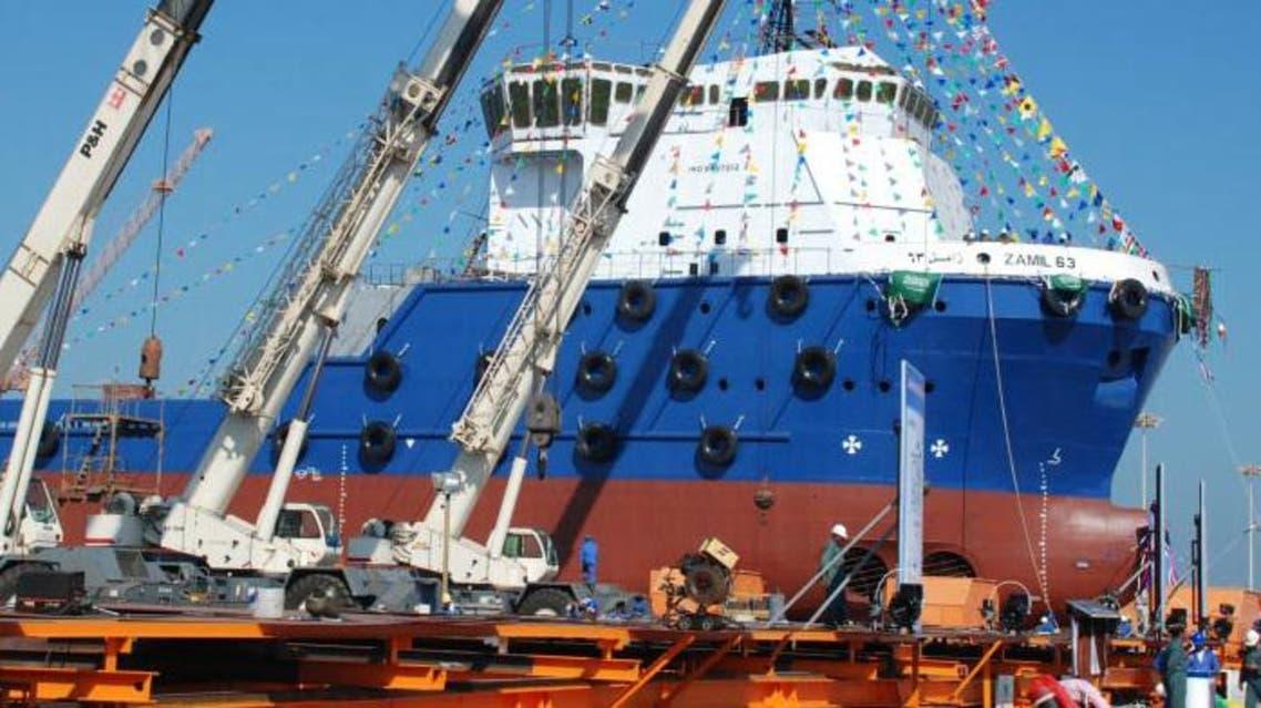 شركة الزامل تدشن اليوم سفينة محلية الصنع في ميناء الملك عبدالعزيز