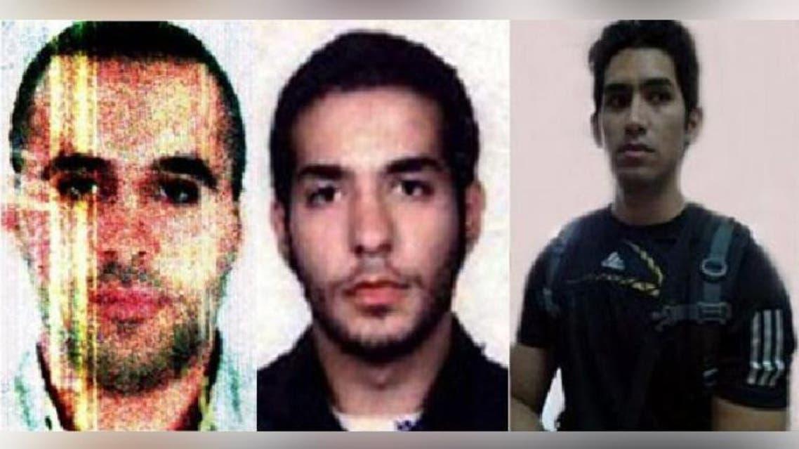 من اليمين المعتقلان الفلبيني والفرنسي من أصل لبناني. ثم بلال بحسون
