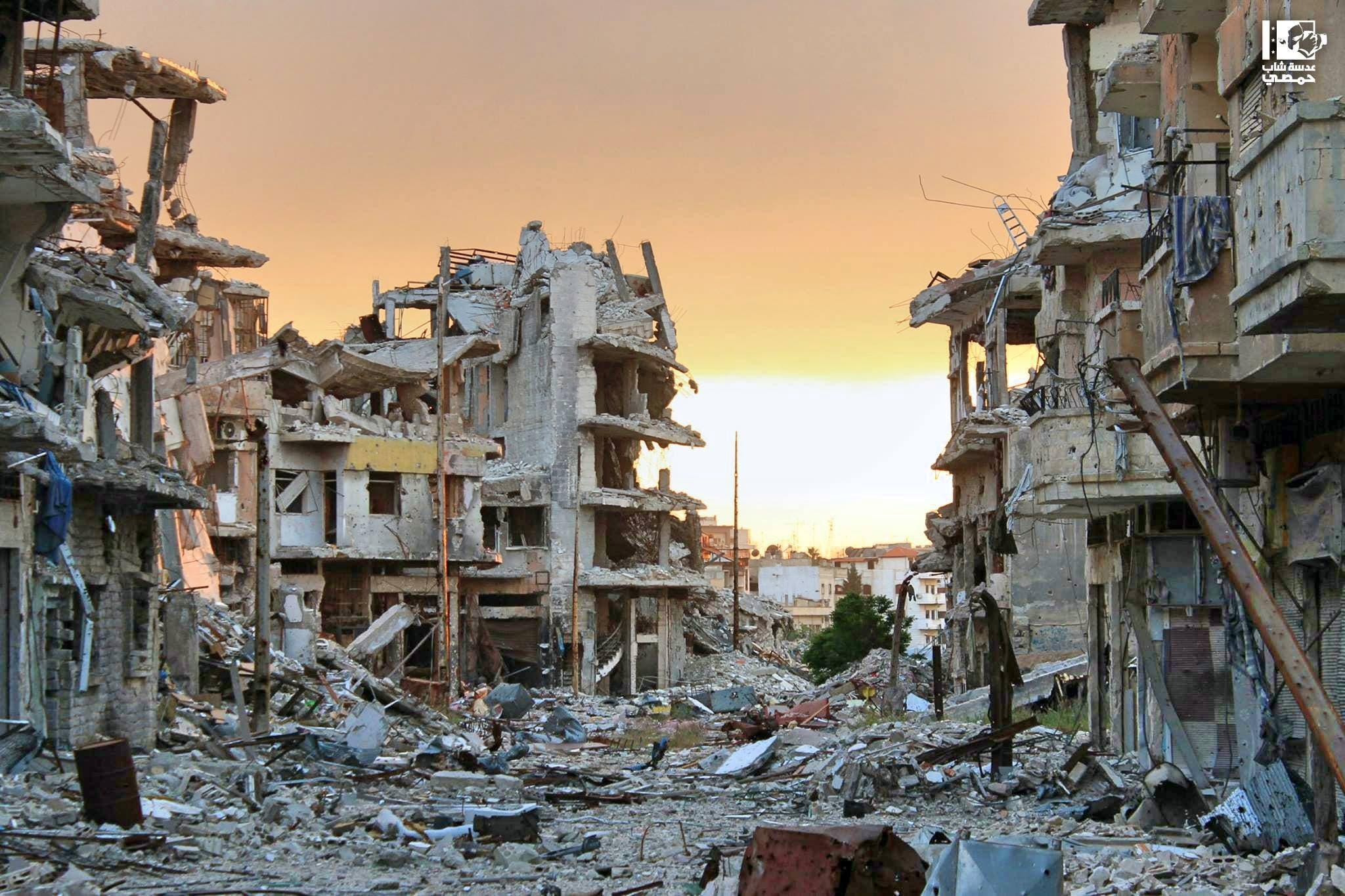 الدمار في حمص