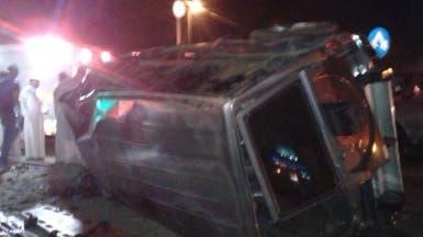 وفاة وإصابة 10 أشخاص في حادث مروري بأبها