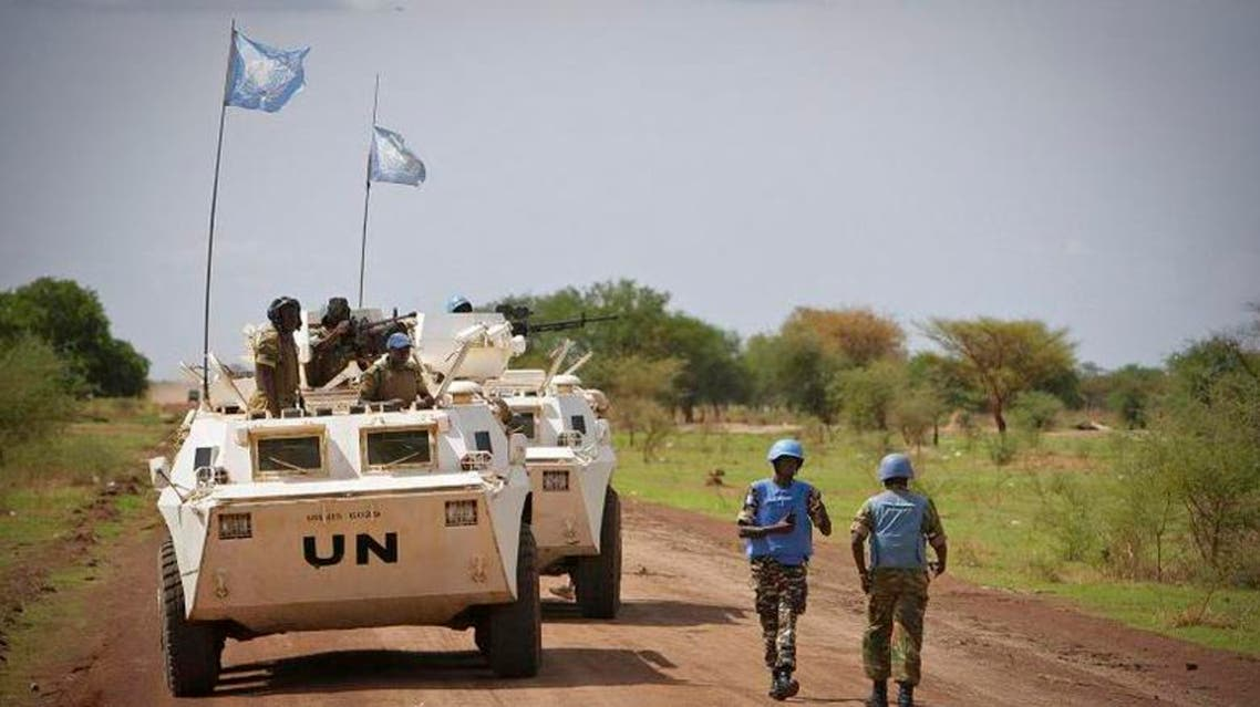 عناصر من قوات حفظ السلام الأمم المتحدة في السودان