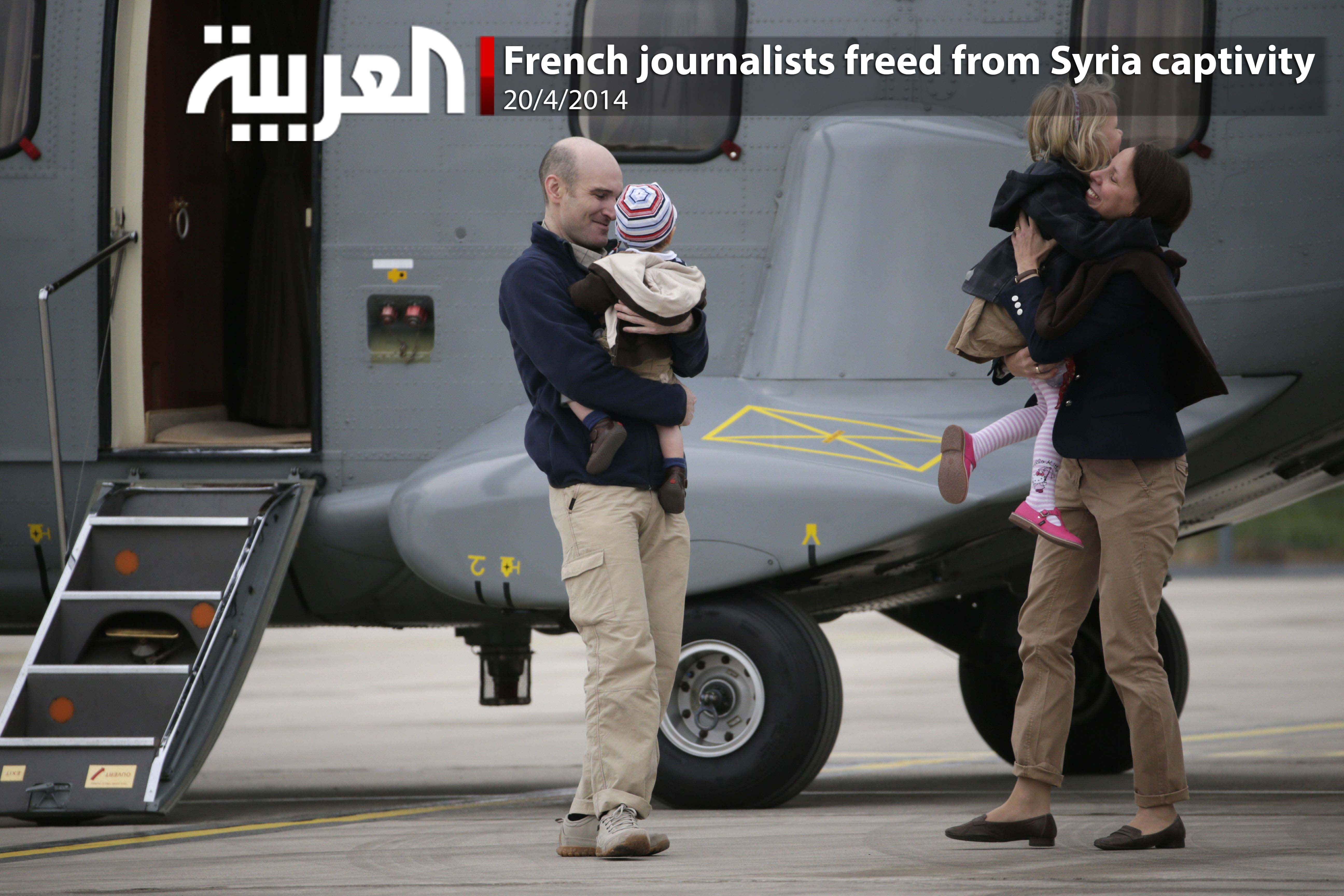 French journalists freed from Syria captivity
