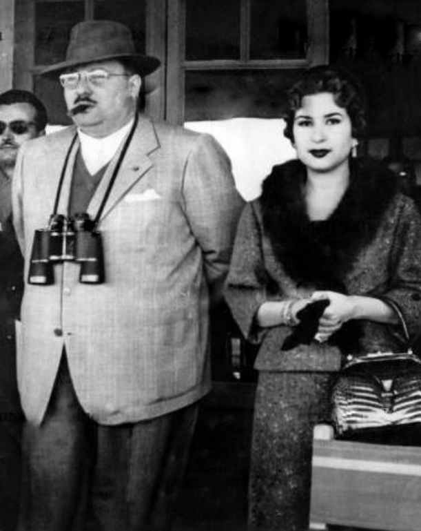 An undated photo of Farouk with Narriman (Photo coutesy of Magda Malek / egyptianroyalty.net)