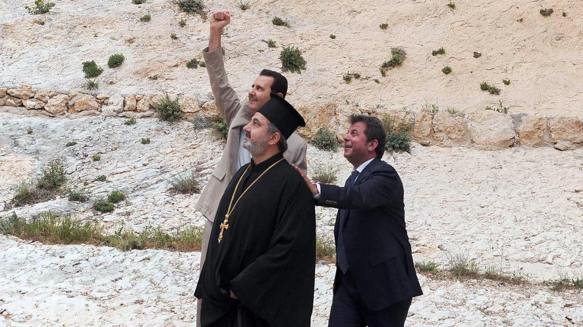 Assad visits Maalula on Easter