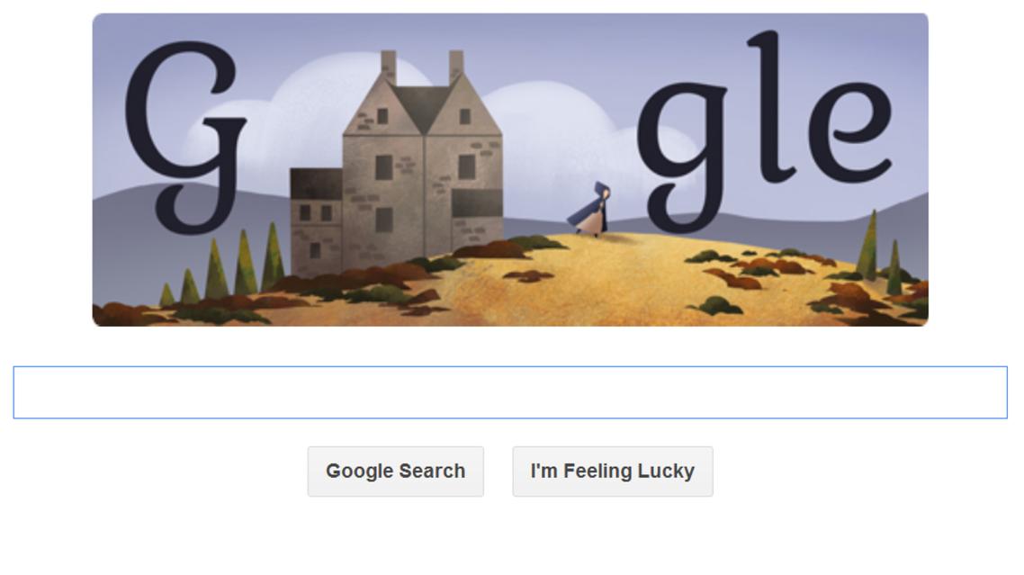 Google has celebrated the life of English writer Charlotte Brontë in its latest Doodle. (Photo courtesy: Google)