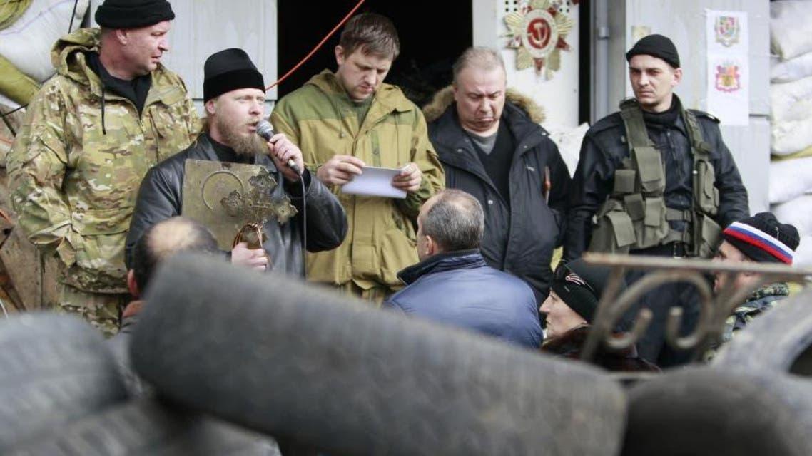 انفصاليون مسلحون في شرق أوكرانيا