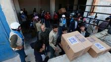 بدء توزيع الأغذية على 60 ألف شخص في حلب