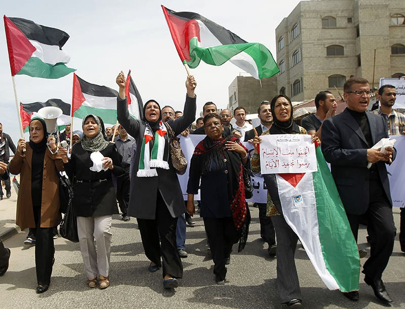 مسيرات مؤيدة للمصالحة الفلسطينية في غزة
