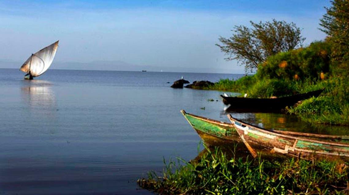 بحيرة فيكتوريا في أوغندا