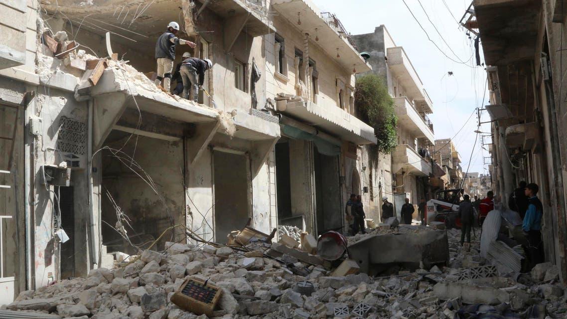 aleppo air raids reuters