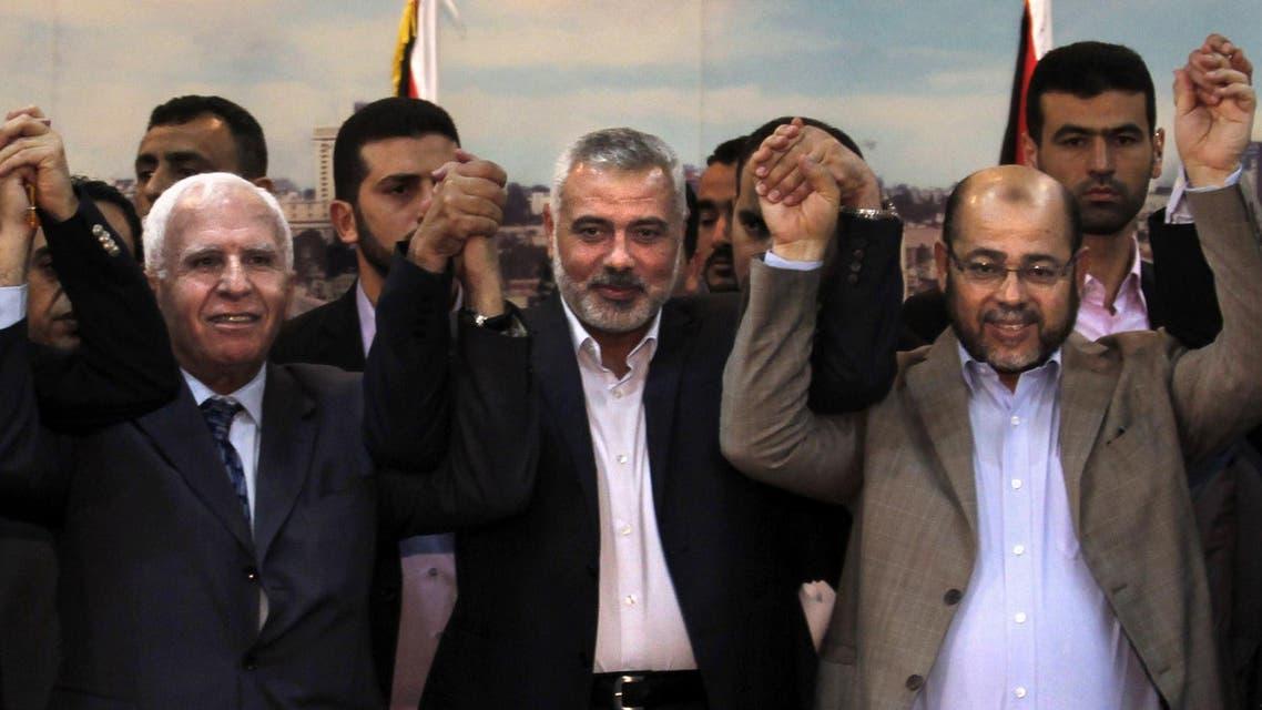 اجتماع المصالحة الفلسطينية في غزة