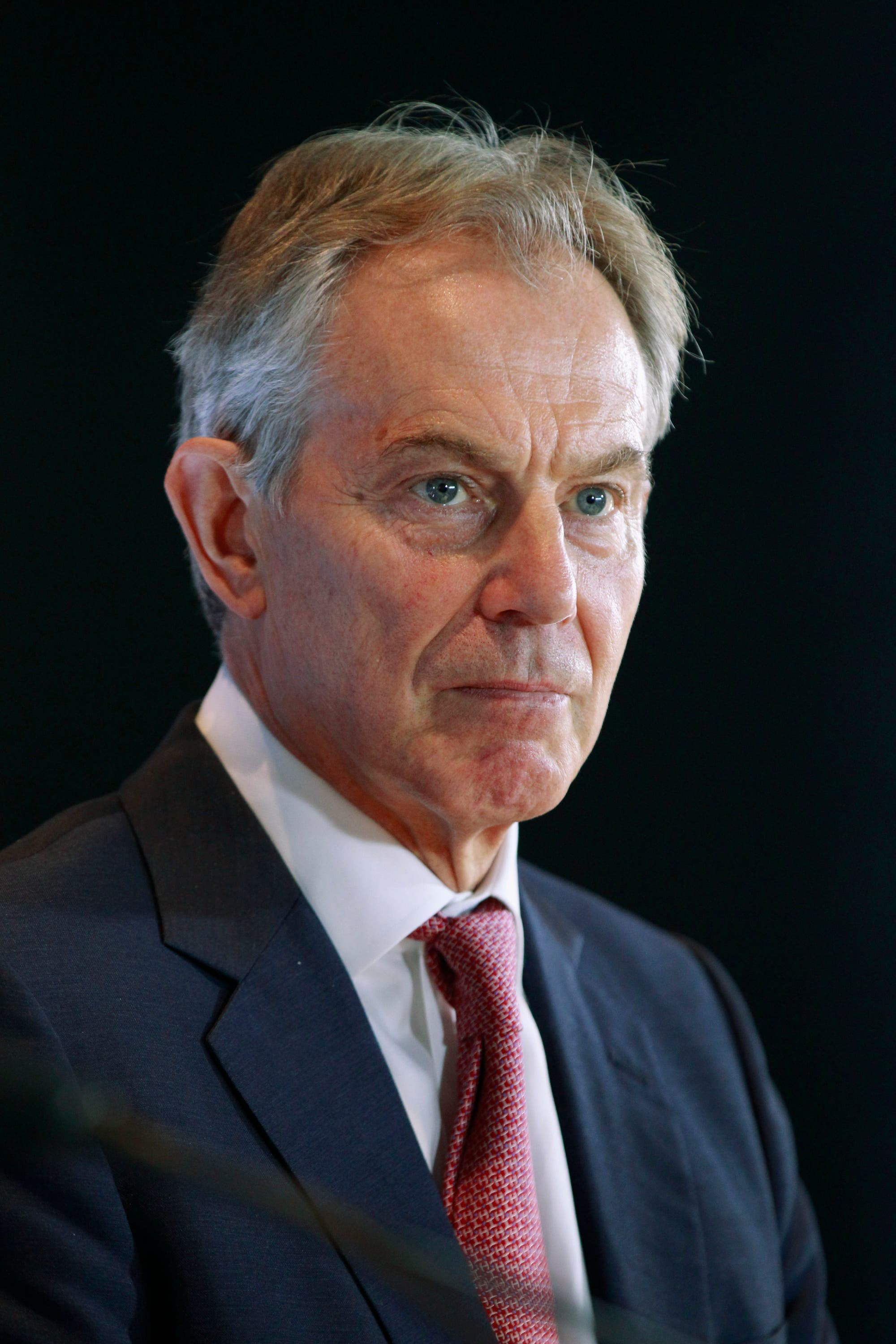 Quartet Representative and former British prime minister Tony Blair takes part in a news conference in Ottawa, Oct. 17, 2013. (Reuters)