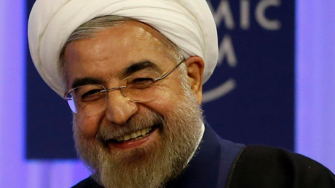Iran's President Hassan Rouhani smiles during a session at the annual meeting of the World Economic Forum (WEF) in Davos, Jan. 23, 2014. (Reuters)