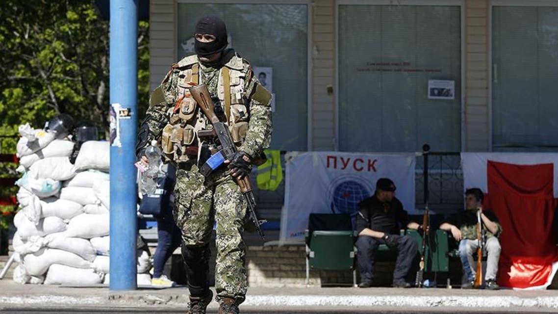 مسلح مقنع في سلافيانسك