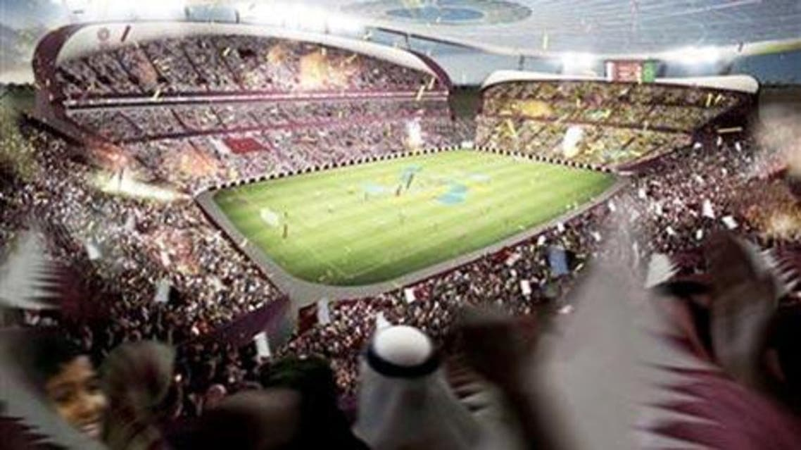 Artist's rendering of the 'Lusail Iconic Stadium' for Qatar. Image: Foster + Partners.