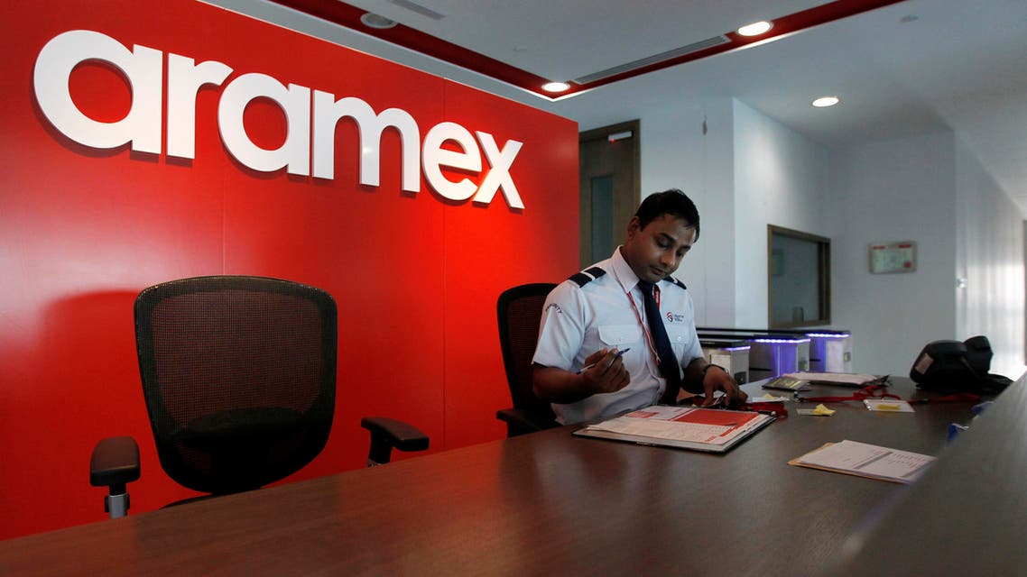 An employee is seen at the distribution warehouse of the Aramex Emirates head offices at Dubai Logistics City in Jebel Ali. (Reuters)